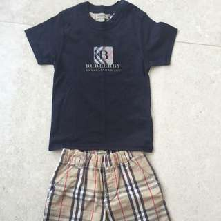 BURBERRY KIDS T SHIRT AND SHORTS SET SIZE 4