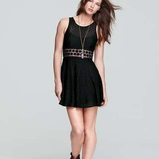 Free People Fitted With Daises Bohemian Dress