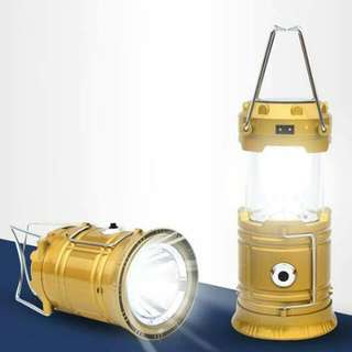 HW-5800T SOLAR RECHARGEABLE CAMPING LANTERN (small)