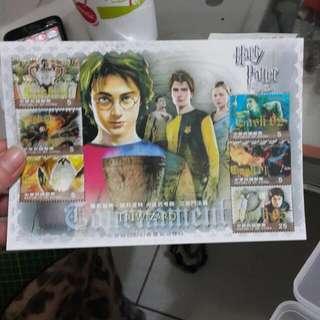 哈利波特郵票三大張