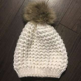 Hat With Fur Pom