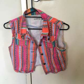 Kids Size 12 Coloured Denim Vest