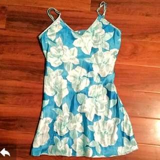 Silky Floral Night Dress