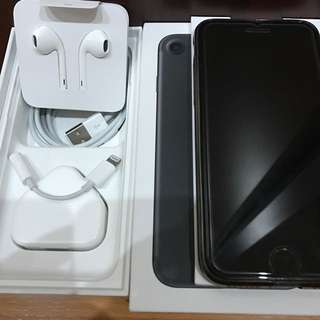 Iphone 7 128GB Seken BlackMatte Mulus Perfect. Grnsi Inter Sisa 7 Bulan