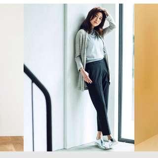 5折賣 Uniqlo Smart Style 九分褲 西裝褲 黑條紋s