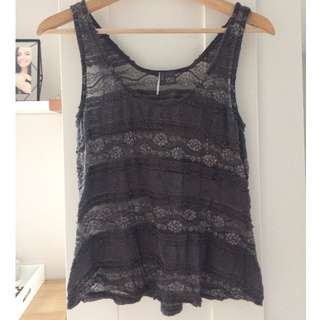 Sparkle & Fade Lace Tank, Size Small