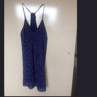 Blue And White Stripped Stress XS