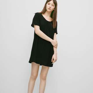 Aritzia Black Teigan Dress
