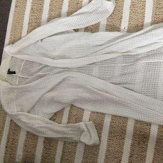 White Long Kimono