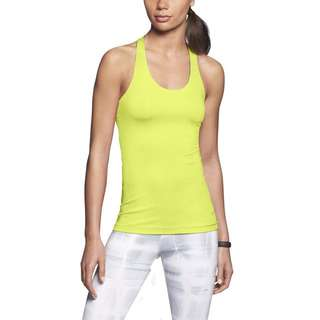 Nike Women's Dri Fit Neon Yellow Sleeveless Top