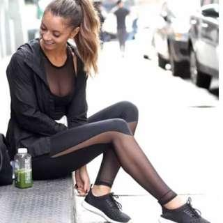 Black Yoga Pants Mesh Leggings Sports