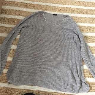 Long Grey Oversize Knit