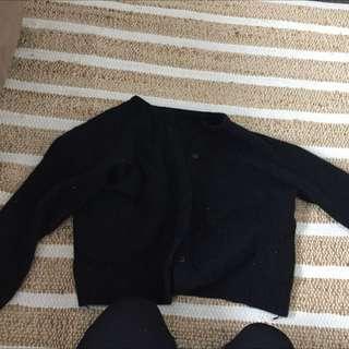 Warm Woollen Black Cardi