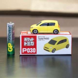 Pocket Tomica P030 Toyota Passo Myvi Yellow