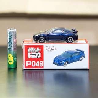 Pocket Tomica P049 Toyota 86 GT86 Dark Blue