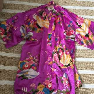 Summer Kimono Style Dressing Gown