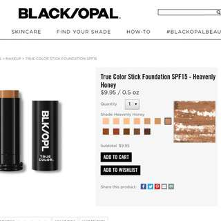 Black Opal Foundation Stick.