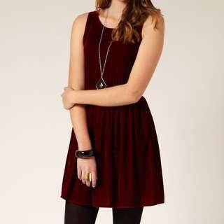 Velvet Red Dress (Glassons)