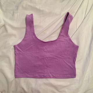 Lilac 90s Crop Top