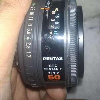 Pentax F 50mm 1.7