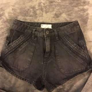 Black Free People Jean Shorts