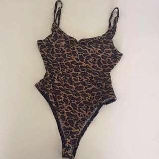 Size S Leopard Print Body Suit