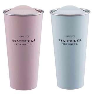 限時閃購⚡️🌸星巴克粉紅粉藍Togo不鏽鋼杯 馬卡龍色 Starbucks