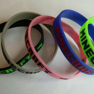 New 10pcs Minecraft Wristbands Bracelets