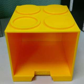 🚚 【黑人嚴選】樂高LEGO黃色CUBE積木盒。置物盒。疊疊樂