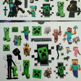 New Minecraft Temporary Tattoo