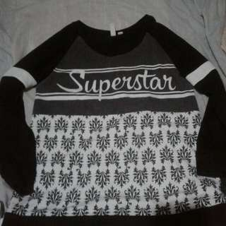 Penshoppe Cool Kid B&W Superstar  Size : S. :)