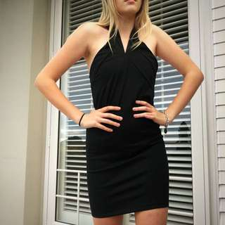 Black Cross Over Dress