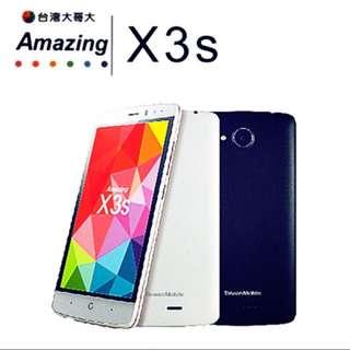 全新公司貨 TWM Amazing X3S 5吋 4G LTE 四核心 X3S 黑色