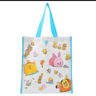 迪士尼Store TSUM TSUM塑膠編織手提袋