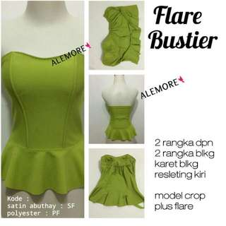 bustier flare modern bahan polyester
