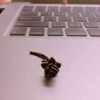 玫瑰玫瑰金耳環
