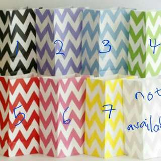 $0.40/pc Kraft Paper Bag Chevron Polka Plain