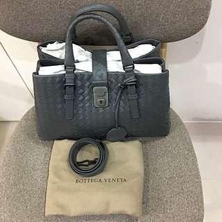 Bottega Veneta BV淺灰色mini Roma羅馬包