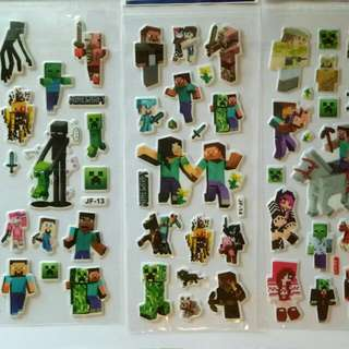 New 10 Sheets Minecraft Stickers