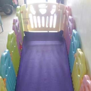 Reduced To $65 PL Play Yard (10panels+1door+1activity panel)