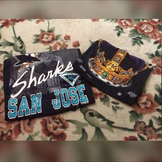 Vtg T-Shirt Sharks, Kings