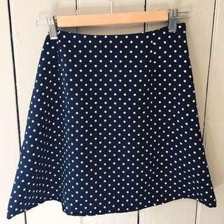 Vintage Denim Polka For Skirt