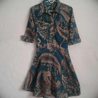 Batik Flare Mini Dress