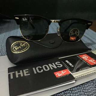 Authentic Ray-ban Club Master (black&gold)