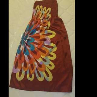 Maroon/Dark Red Tube Dress with Attractive Design