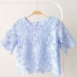 Korean Lacey Blouse
