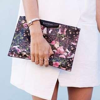 Givenchy Floral Clutch Bag