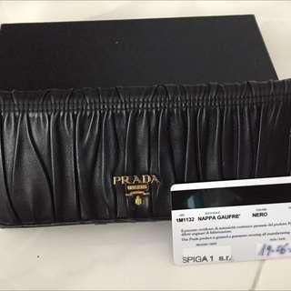 Prada Nappa Gaufre Long Wallet