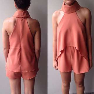peach playsuit $30