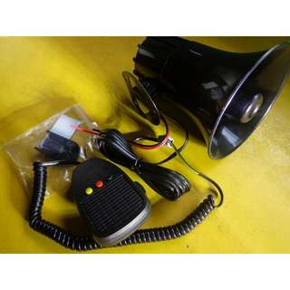 car motorcycle 3 tone electronic siren with mic